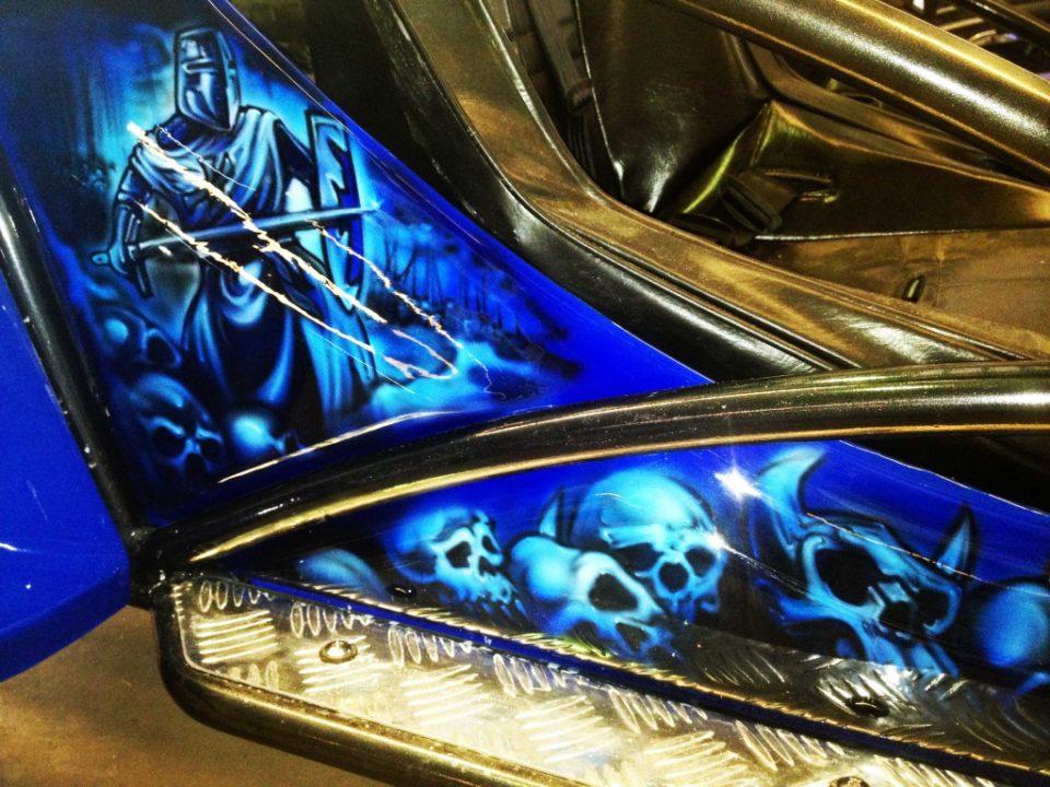 Crusader Blue Buggy | Airbrush Art Usa | Professional ...  Crusader Blue B...